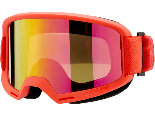 IXS Hack Mirror Goggles, racing red
